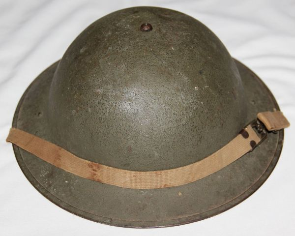 C057. EARLY WWII M1917A1 COMBAT HELMET