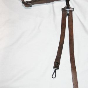 A040. NICE M1903 OFFICERS LEATHER GARRISON BELT WITH SWORD HANGER