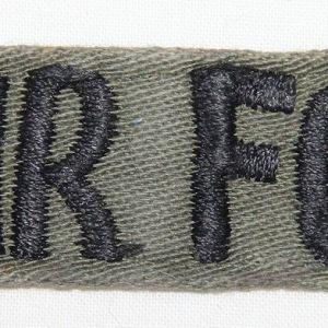T190. VIETNAM THEATER MADE USAF UNIFORM TAPE ON TWILL