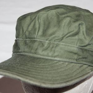T203. EARLY VIETNAM SATEEN COTTON UTILITY FIELD CAP