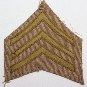 B199. WWI SERGEANT CHEVRONS FOR THE KHAKI BLOUSE