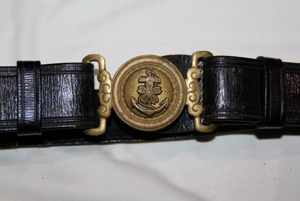 M058. WWII JAPANESE NAVAL OFFICER BELT AND BUCKLE