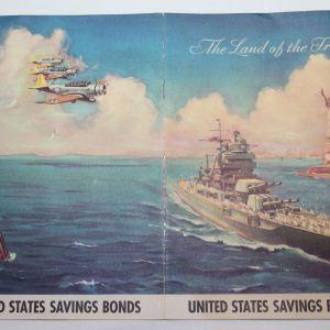 I067. PRE WWII HOME FRONT PATRIOTIC SAVINGS BONDS BROCHURE