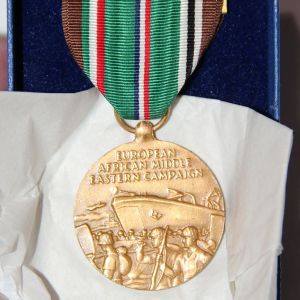 H086. WWII COAST GUARD EAME MEDAL IN ORIGINAL BOX