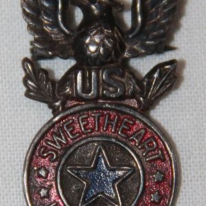 I078. WWII HOME FRONT STERLING SWEETHEART IN SERVICE LAPEL PIN
