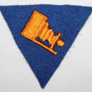 G169. WWII AAF WOOL FELT PHOTOGRAPHY SPECIALIST SLEEVE PATCH