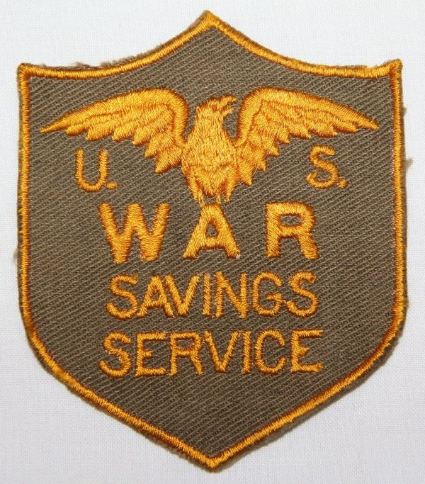 G150. WWII US WAR SAVINGS SERVICE PATCH