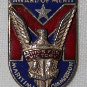 I083. WWII MARITIME COMMISSION SHIPS FOR VICTORY AWARD OF MERIT STERLING PIN