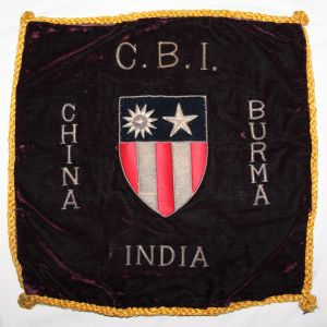 I085. WWII THEATER MADE BULLION CBI CHINA BURMA INDIA PILLOW COVER