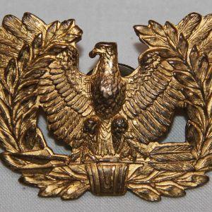 H090. WWII ACID TEST WARRANT OFFICER VISOR CAP BADGE