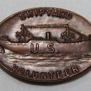 B253. WWI SHIPYARD VOLUNTEER LAPEL PIN