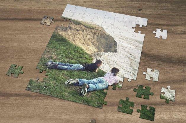 selbstgestaltetes Puzzle