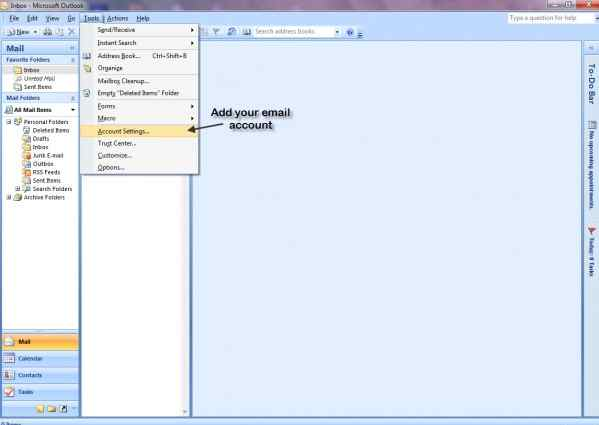 how to configure outlook 2013