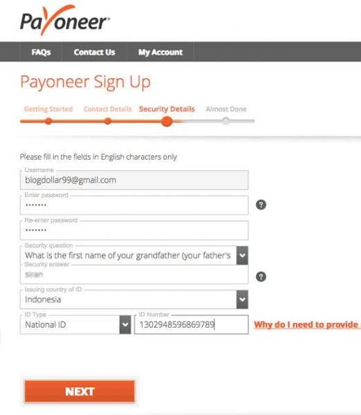 how to delete payoneer account