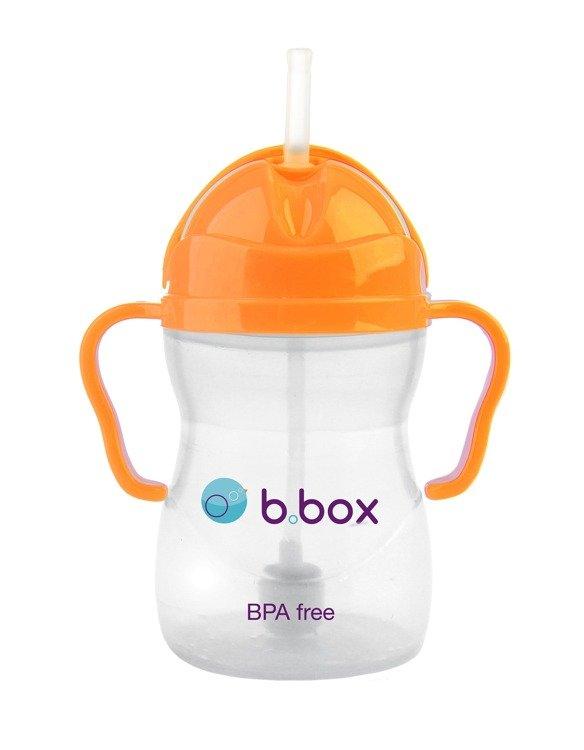 Innowacyjny bidon ze słomką b.box neon pomarańczowy