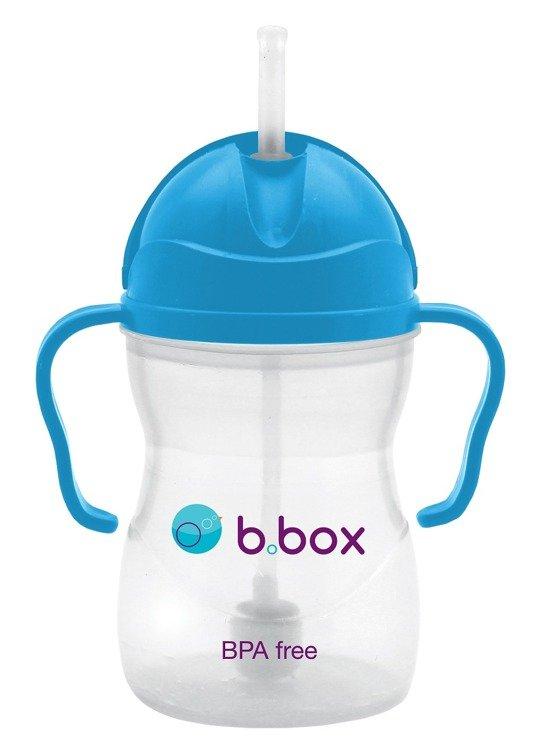 Innowacyjny bidon ze słomką b.box niebieski