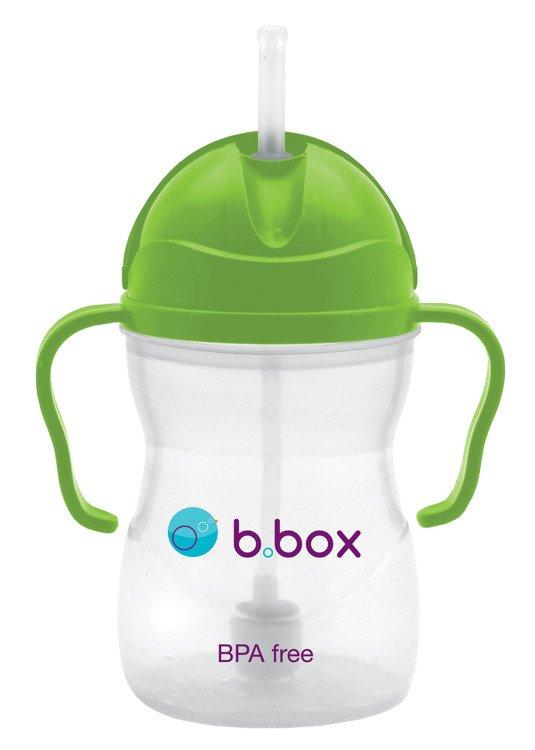 Innowacyjny bidon ze słomką b.box zielony