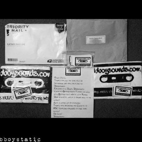 Meanwhile @ Bboywear.com...Big up to @bboystatic getting fresh with the #bboysounds classic cassette t-shirt!