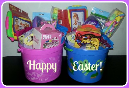 Easter buckets giveaway