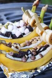 Bananenbootjes van de BBQ