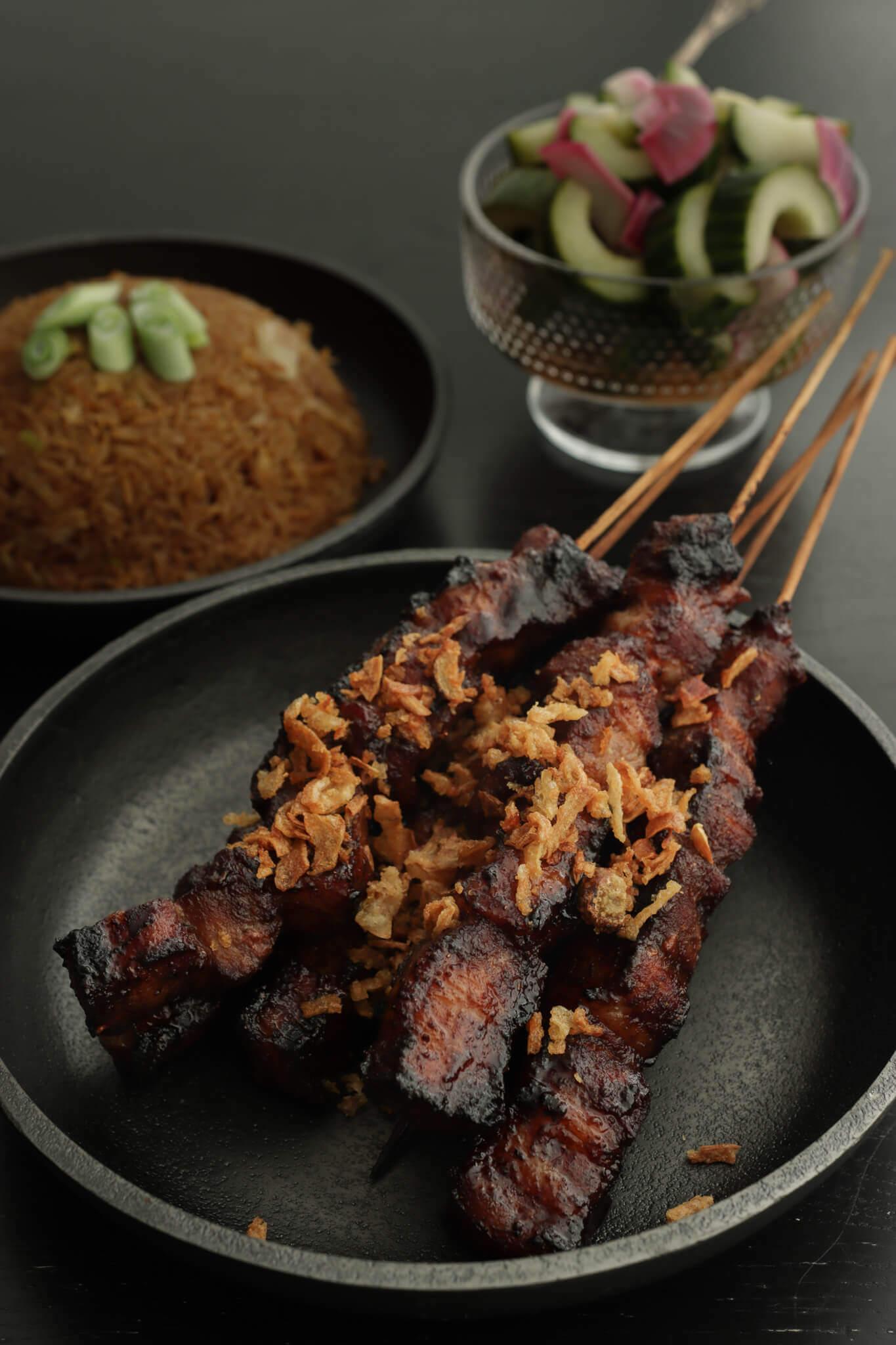 Recept Sate lemak - Indische sate van buikspek