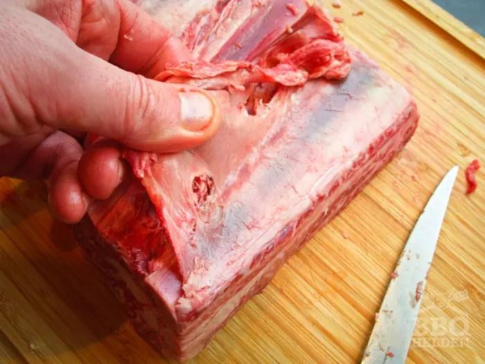 vlies-verwijderen-short-ribs