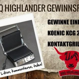 BEENDET – Gewinne einen KOENIC KCG 205 Kontaktgrill