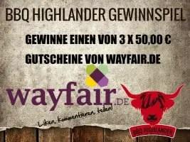 3 x 50,00 € Gutscheine von Wayfair.de zu gewinnen