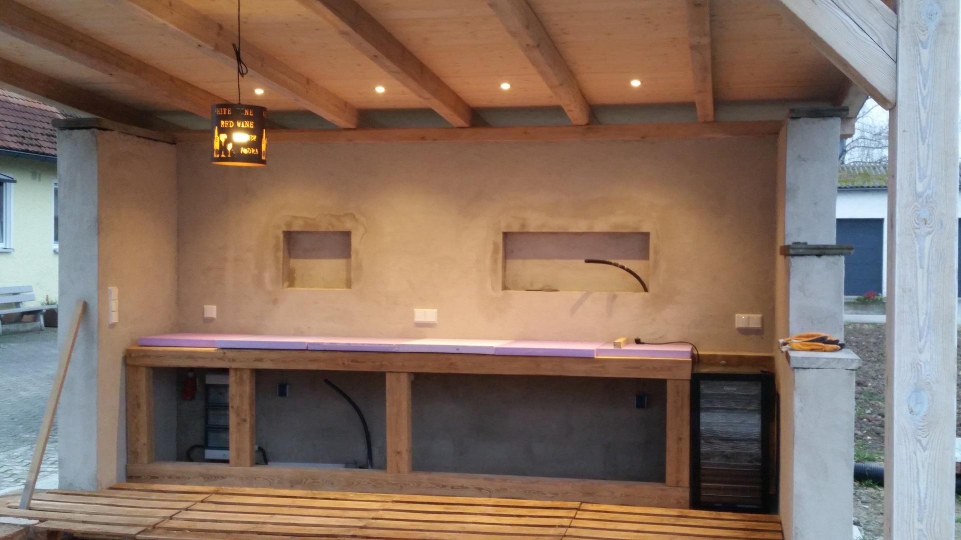 Outdoor Küche Mit Weber Spirit : Bau meiner grill und bbq außenküche gartenküche teil