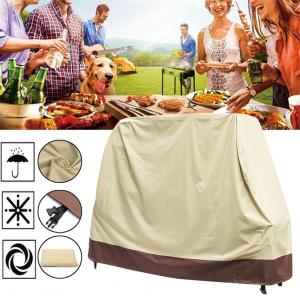 600D Oxford Cloth Beige BBQ Grill Gas Barbecue Waterproof Cover Outdoor Heavy Duty Protector