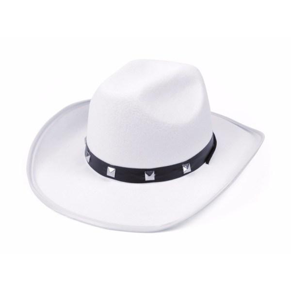 Witte cowboy feesthoeden