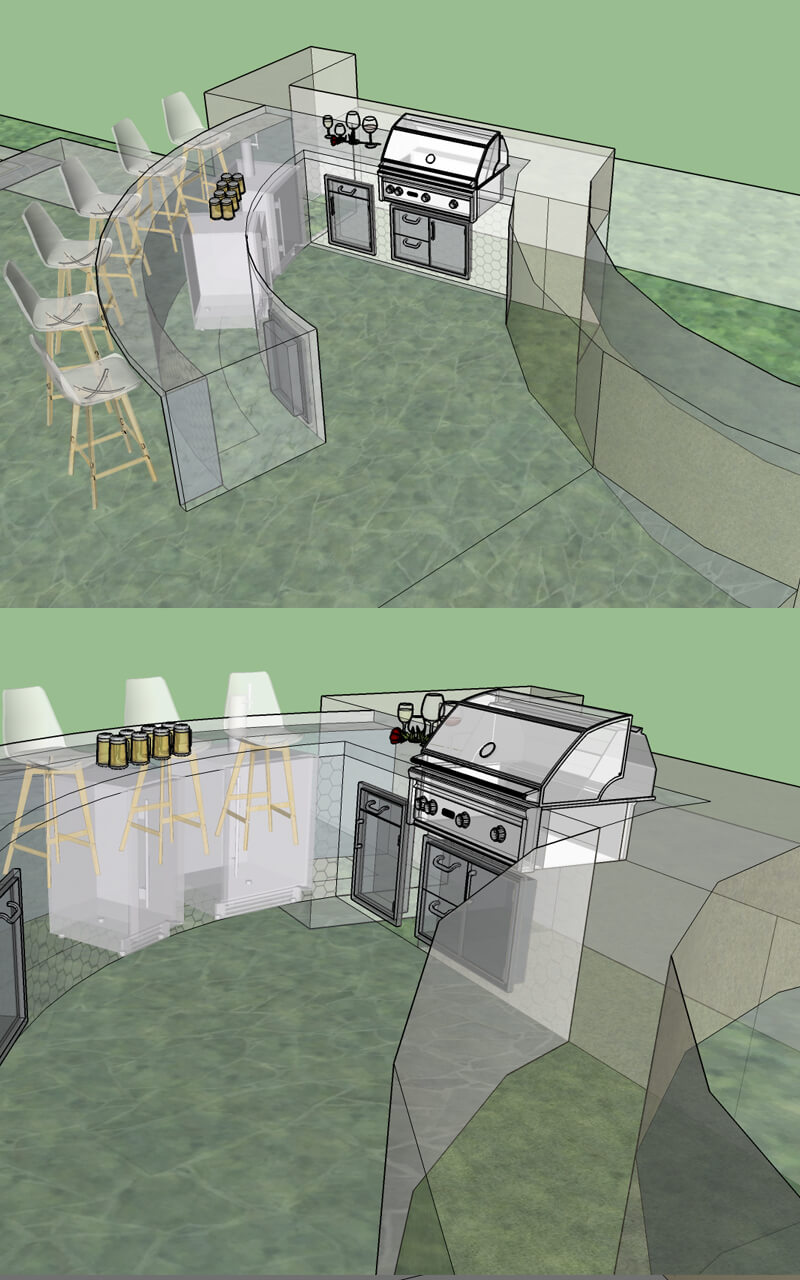 Google Sketchup – Custom Outdoor Kitchen Design by BBQ Concepts of Southern Nevada
