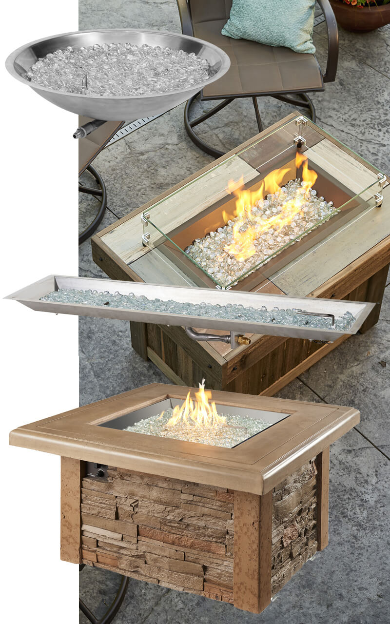 Custom Outdoor Fire Features, Outdoor Fire Tables, Outdoor Fire Rings, Fire Pits, Fire Rings, Burners, Fire & Water Features, Fire Glass, Igniters, Automated Fire Ignitions Systems and More