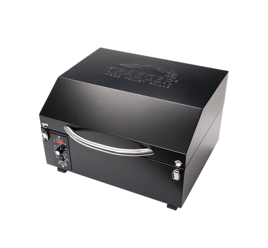PTG+ PELLET GRILL - Black - Front View