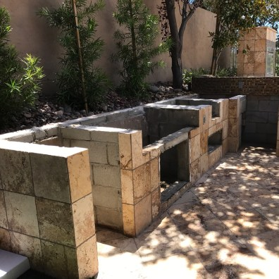 Pre-existing Cinder Block Barbecue Island Structure