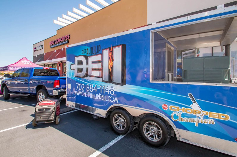 Chef Phillip Dell Official BBQ Truck at the BBQ Concepts Grand Opening Event