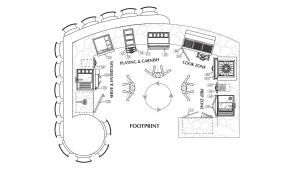 Outdoor Kitchen Line Drawing Layout