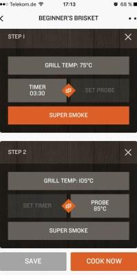 Rezepte in der Traeger App