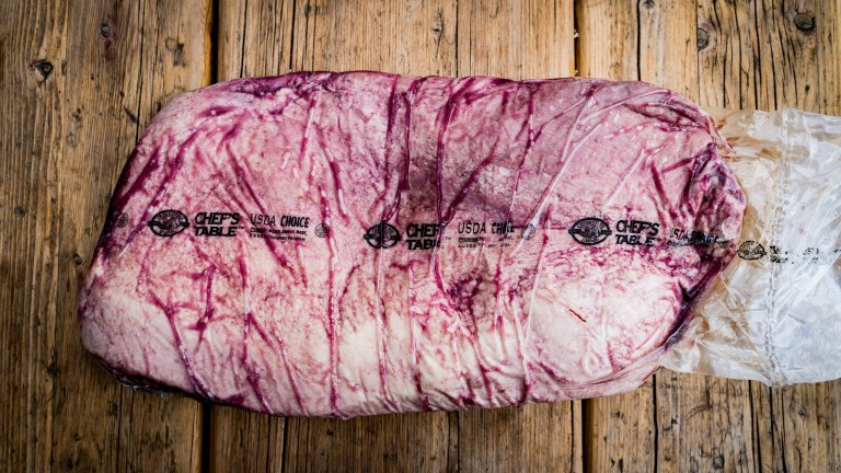 Ein Full Packer Brisket von den Creekstone Farms