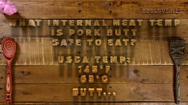 What internal meat temp is pork butt safe to eat