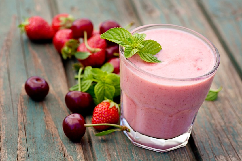 Strawberry fruit drink smoothie