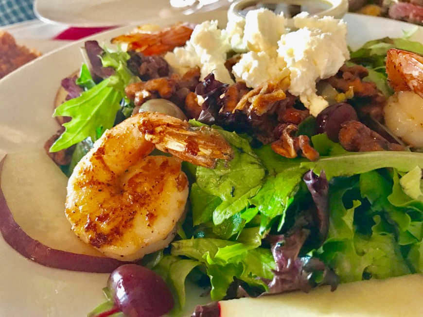 #GrilledShrimp #Salad #HarvestOrganicGrille #Houston
