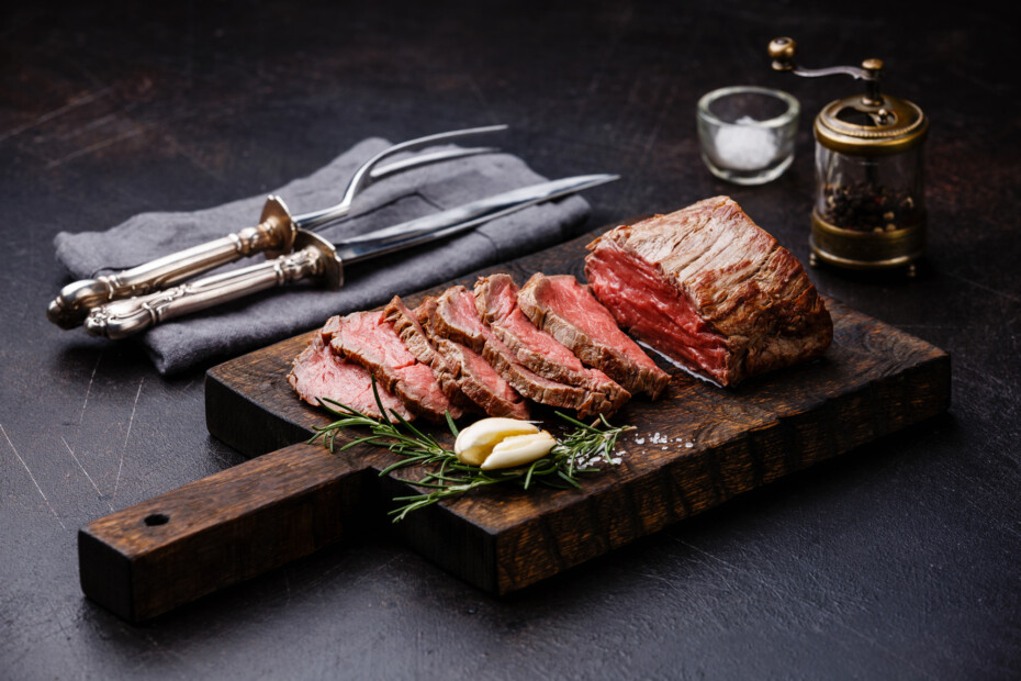 Sliced Tenderloin Meat Roast Beef