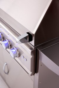 Summerset TRLD44 Polished Stainless Steel Hood Handle and Knobs