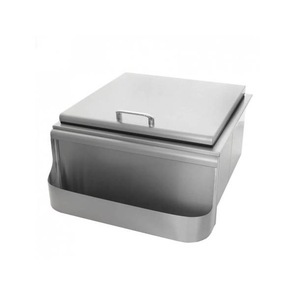 PCM 260 Series 18-Inch Slide-In Ice Bin Cooler With Speed Rail & Condiment Holder