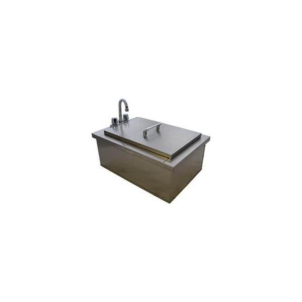 PCM 260 Series 21-Inch Outdoor Rated Drop-In Bar Sink With Hot/Cold Faucet