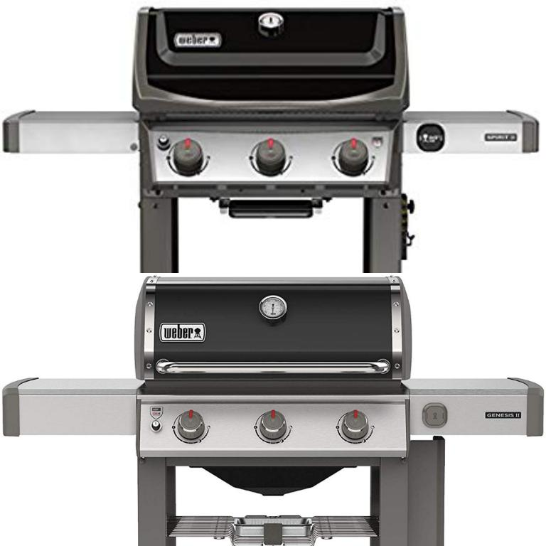 Choosing between the Weber Genesis II and Spirit II Three Burner Grills