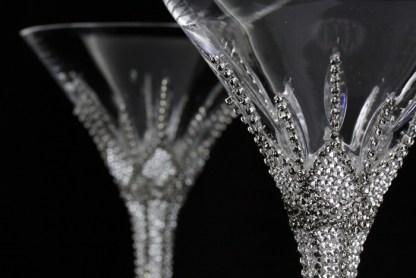 B.B.SIMON CUP-509 CLEAR Black Diamond Swarovski Martinin Glass