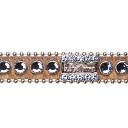 B.B.SIMON DOG Belle Pink Crystal Collar