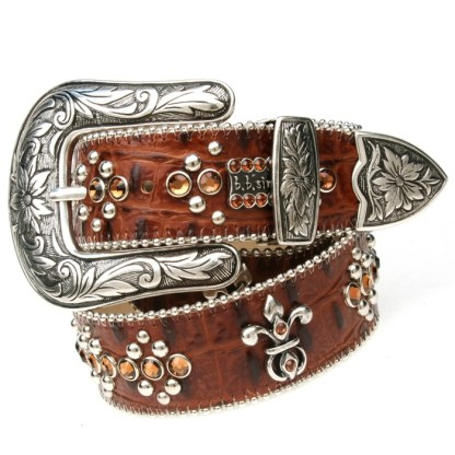 Brown Leather-w-Crystals